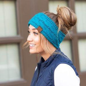 CC Cable Knit Blue Headband